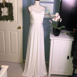 JS Boutique off white stunning evening gown